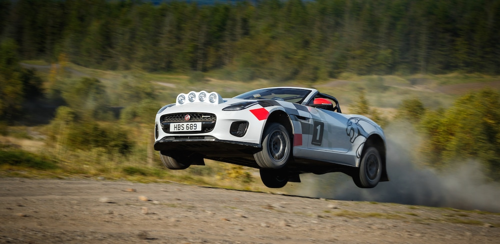 Jaguar reveals F-Type rally car to mark 70 years of its sports cars