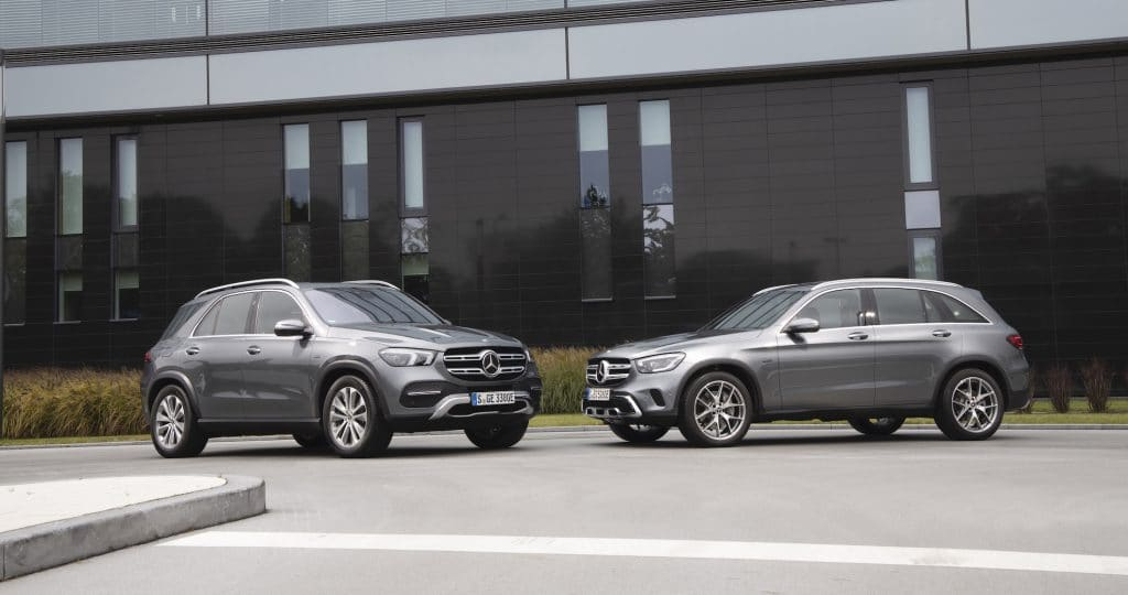 Mercedes reveals GLC 300 E and GLE 350 de plug-in hybrids